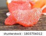 A Piece Of Peeled Grapefruit O...