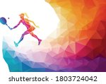 creative silhouette of female... | Shutterstock .eps vector #1803724042