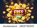 casino free spins  777 slot... | Shutterstock .eps vector #1803730345