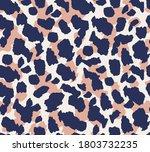 seamless vector leopard fur... | Shutterstock .eps vector #1803732235