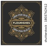 old label with floral details.... | Shutterstock .eps vector #1803762412