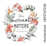 Moment Matters Slogan In Exotic ...