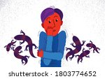 herpetophobia fear of reptiles...   Shutterstock .eps vector #1803774652