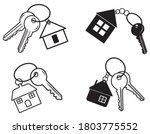 set of keys with a house.... | Shutterstock .eps vector #1803775552