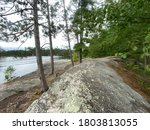 Rocky Rugged Shoreline Of A...