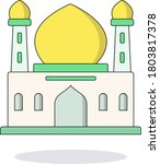 arab palace colorful... | Shutterstock .eps vector #1803817378