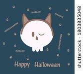 vector illustration of skull in ... | Shutterstock .eps vector #1803835048