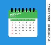 August 2021 Calendar. August...