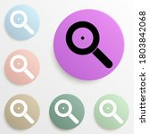 loop magnifier badge color set. ...