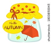 vector autumn unusual object... | Shutterstock .eps vector #1803850045