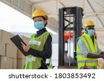 Young Asian Woman Worker With...