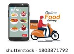 food delivery mobile app. for... | Shutterstock .eps vector #1803871792
