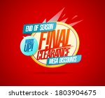 final clearance  hurry up  end...   Shutterstock .eps vector #1803904675