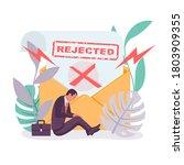 template landing page  refusal... | Shutterstock .eps vector #1803909355