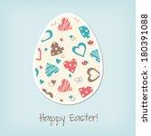 easter egg  vintage greating... | Shutterstock .eps vector #180391088
