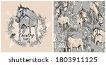 set of print and seamless... | Shutterstock .eps vector #1803911125