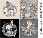 set of three prints and one... | Shutterstock .eps vector #1803923458