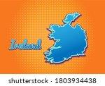 Retro Map Of Ireland With...