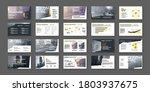 presentation templates. vector... | Shutterstock .eps vector #1803937675