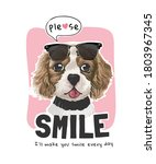 Please Smile Slogan With Cute...