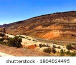 Utah Desert Hillside Landscape...