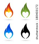 Icons Of Fire With Heart...