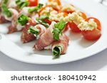 catering services background... | Shutterstock . vector #180410942