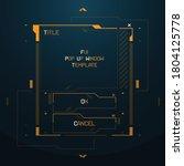 fui sci fi futuristic cyberpunk ... | Shutterstock .eps vector #1804125778