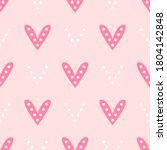 repeating hearts with dots.... | Shutterstock .eps vector #1804142848