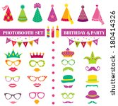 photobooth birthday and party... | Shutterstock .eps vector #180414326