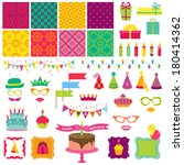 scrapbook design elements  ... | Shutterstock .eps vector #180414362