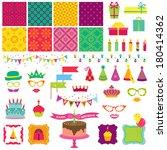 scrapbook design elements  ... | Shutterstock .eps vector #180414362