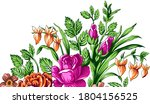 new digital textile  design... | Shutterstock . vector #1804156525