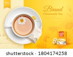 top view of refreshing cup of... | Shutterstock .eps vector #1804174258