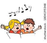 Singing Children  Girl And Boy...