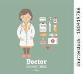 vector card   doctor | Shutterstock .eps vector #180419786