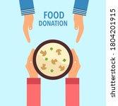 food donation concept vector... | Shutterstock .eps vector #1804201915