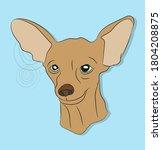 dog lies  dachshund brown ...   Shutterstock .eps vector #1804208875