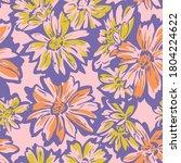 floral seamless pattern. hand... | Shutterstock .eps vector #1804224622