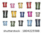 Different Colors Wellies...