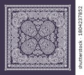 bandana pattern with skull and ... | Shutterstock .eps vector #1804237852
