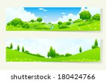 Two Green Horizontal Banners...