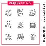 coronavirus precaution tips... | Shutterstock .eps vector #1804266625