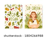 set of eco lifestyle card... | Shutterstock .eps vector #1804266988