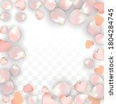 vector realistic petals and... | Shutterstock .eps vector #1804284745