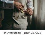 Elegant Man With Suit. Closeup...
