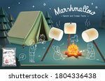 marshmallow advertisement... | Shutterstock .eps vector #1804336438
