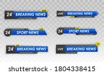 tv news bar. logos  news feeds  ... | Shutterstock . vector #1804338415
