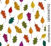 Fallen Leaves Pattern. Autumn...