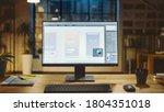 shot of a desktop computer in...